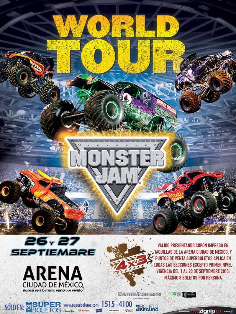 Monster Jam Trucks En La Arena Ciudad De Mexico Rockstarismo Com