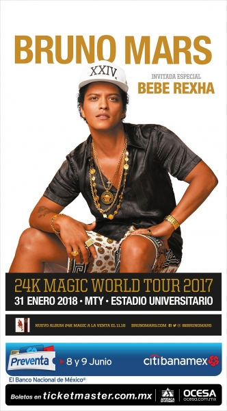 Bruno Mars - Estadio Universitario MTY